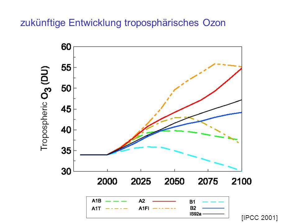 zukünftige Entwicklung troposphärisches Ozon