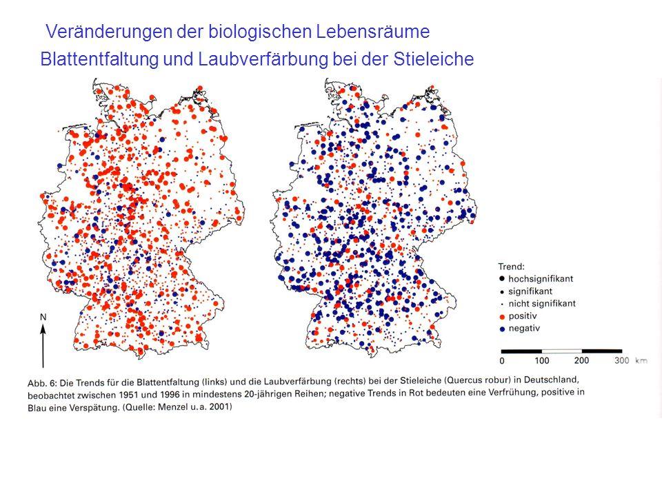 Veränderungen der biologischen Lebensräume