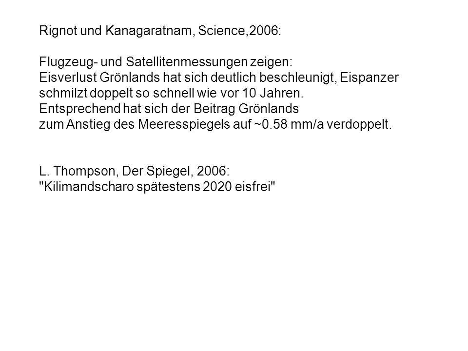 Rignot und Kanagaratnam, Science,2006: