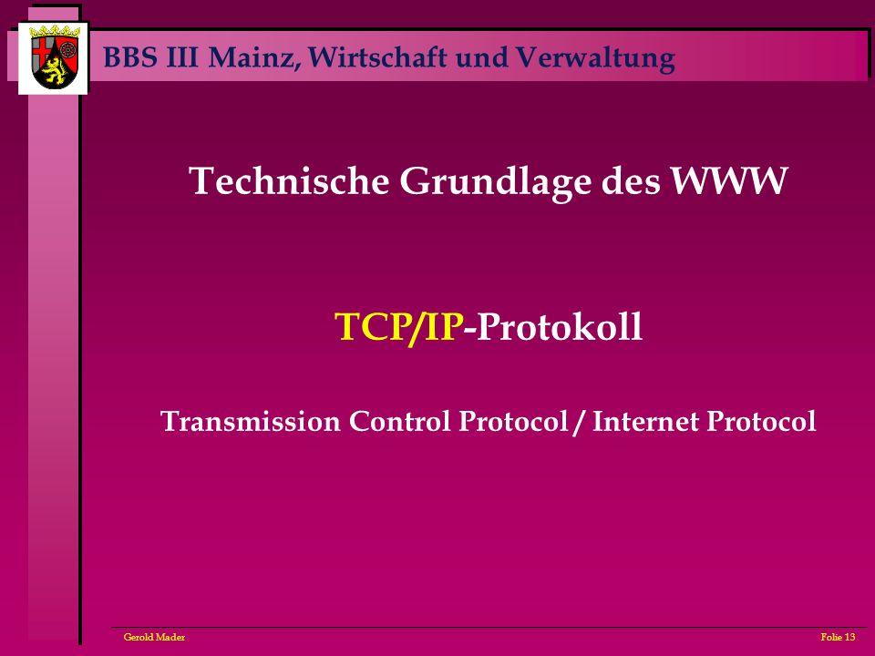 Technische Grundlage des WWW