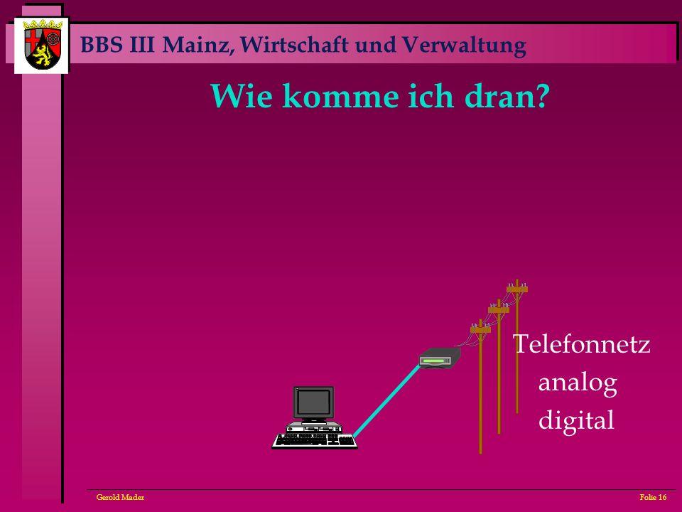Wie komme ich dran Telefonnetz analog digital