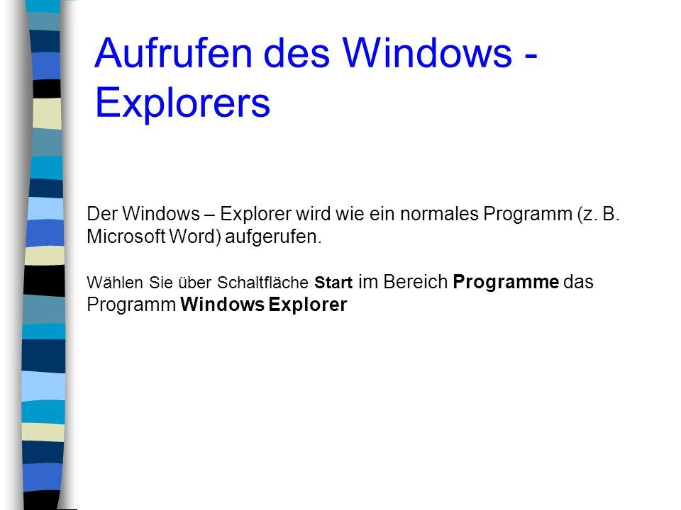 Aufrufen des Windows -Explorers