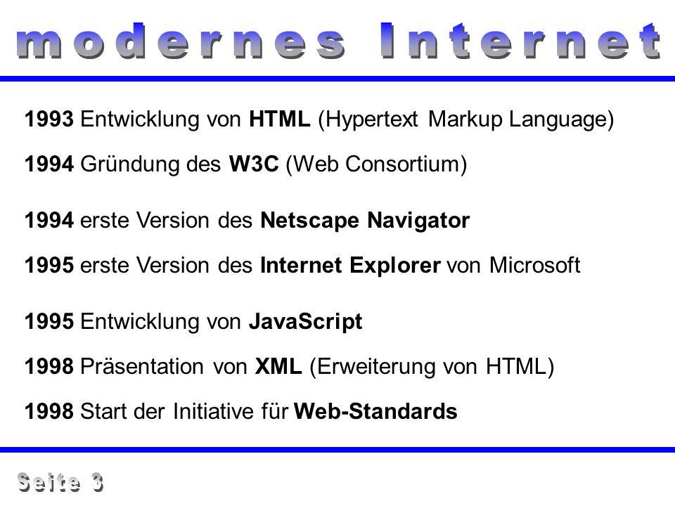 modernes Internet Seite 3