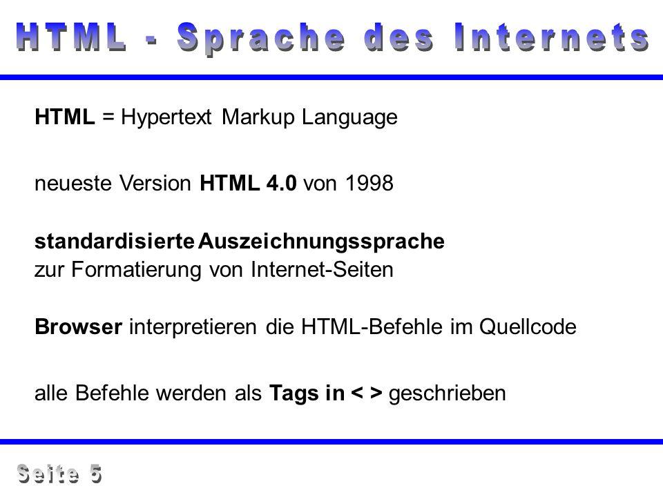 HTML - Sprache des Internets