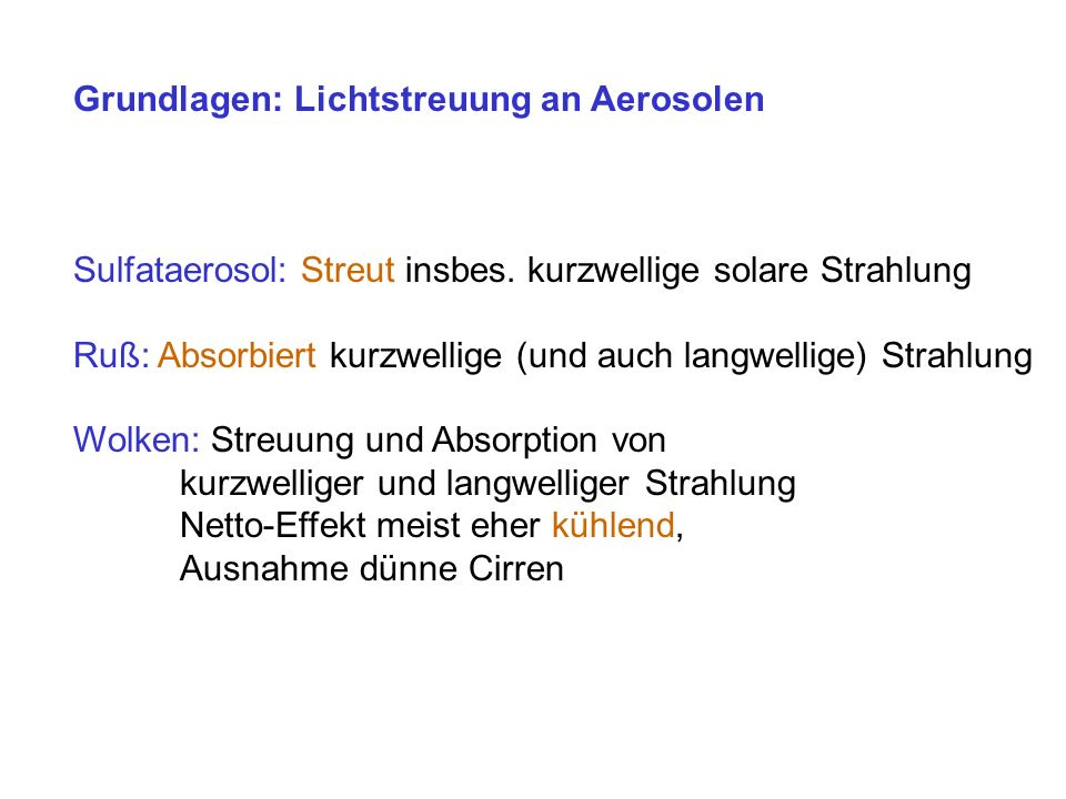 Grundlagen: Lichtstreuung an Aerosolen