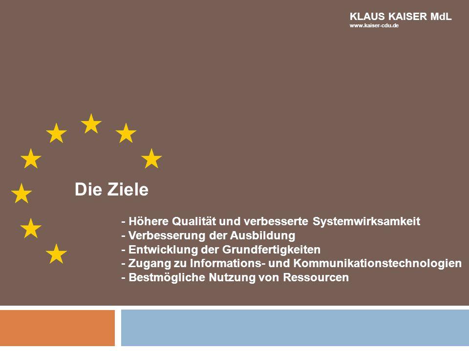 Die Ziele - Höhere Qualität und verbesserte Systemwirksamkeit