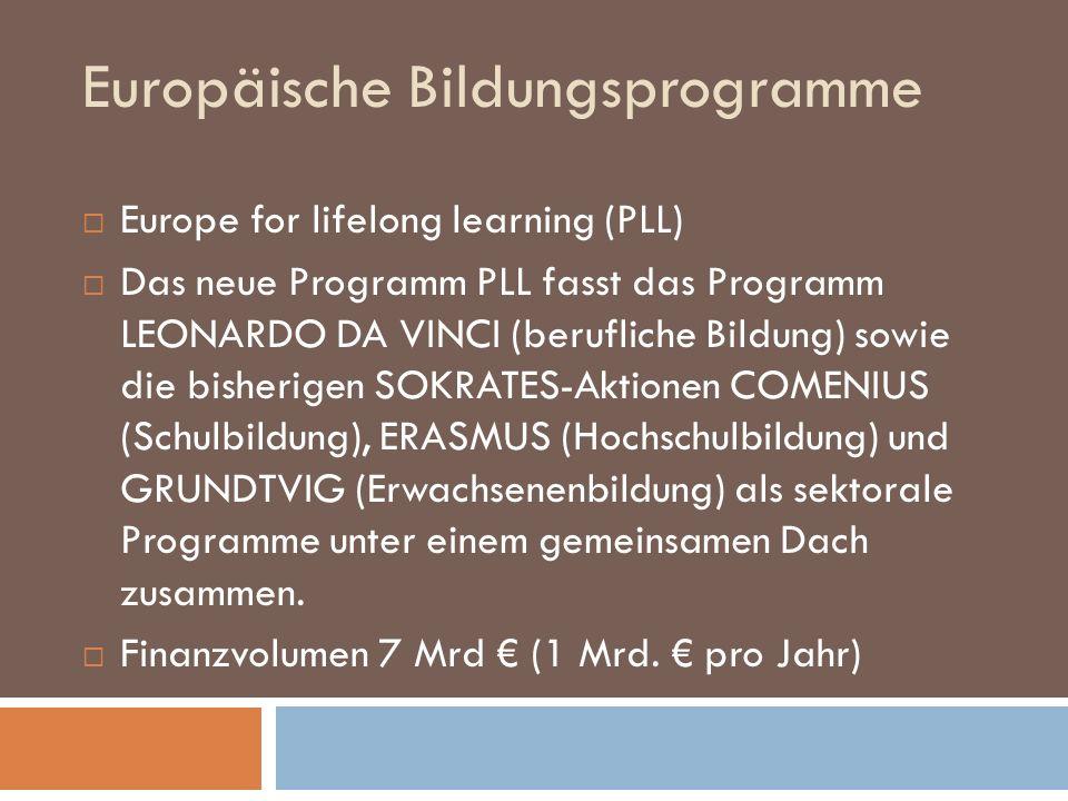 Europäische Bildungsprogramme