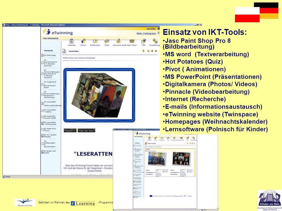 Einsatz von IKT-Tools: