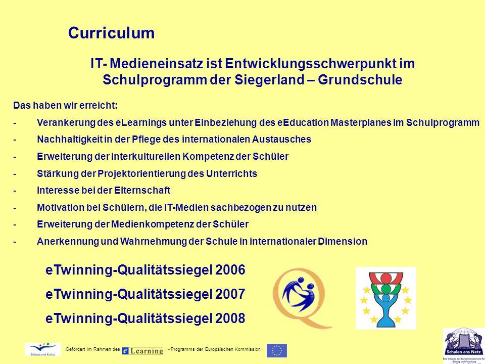 CurriculumIT- Medieneinsatz ist Entwicklungsschwerpunkt im Schulprogramm der Siegerland – Grundschule.