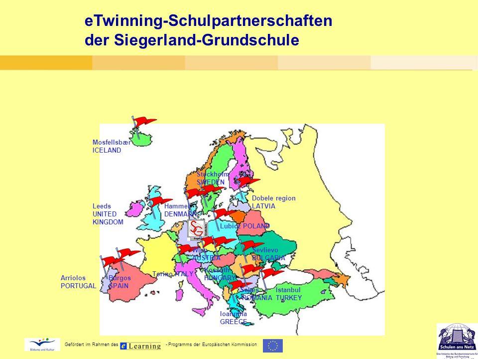 eTwinning-Schulpartnerschaften der Siegerland-Grundschule