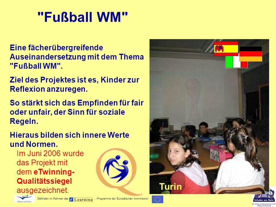 Fußball WM Eine fächerübergreifende Auseinandersetzung mit dem Thema Fußball WM . Ziel des Projektes ist es, Kinder zur Reflexion anzuregen.