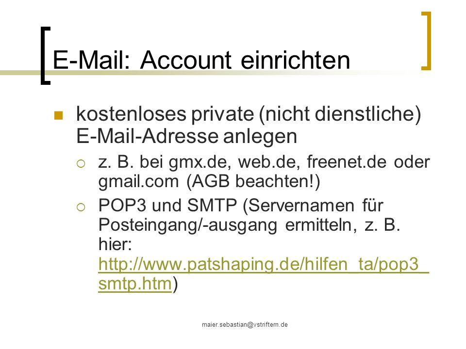 E-Mail: Account einrichten