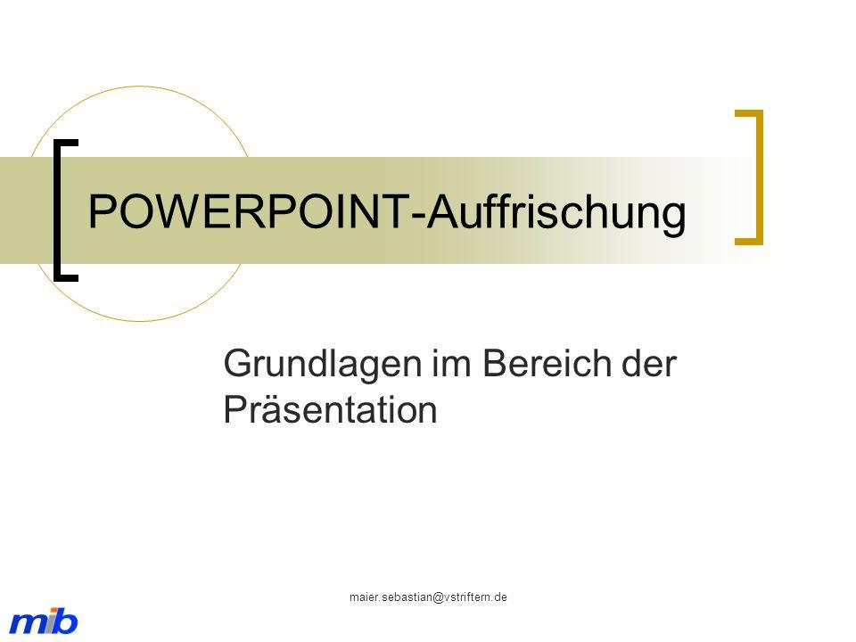 POWERPOINT-Auffrischung