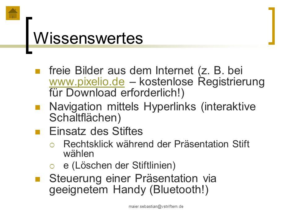 Wissenswertesfreie Bilder aus dem Internet (z. B. bei www.pixelio.de – kostenlose Registrierung für Download erforderlich!)