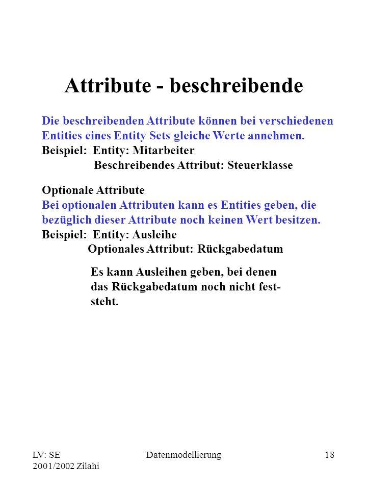 Attribute - beschreibende