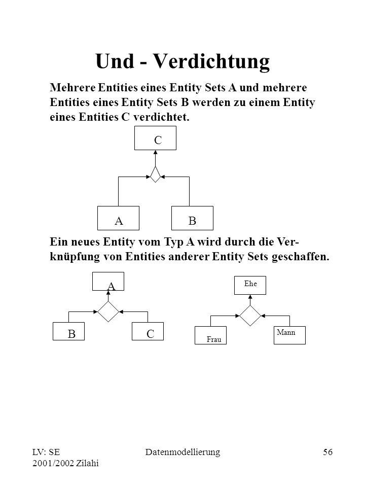 Und - Verdichtung Mehrere Entities eines Entity Sets A und mehrere