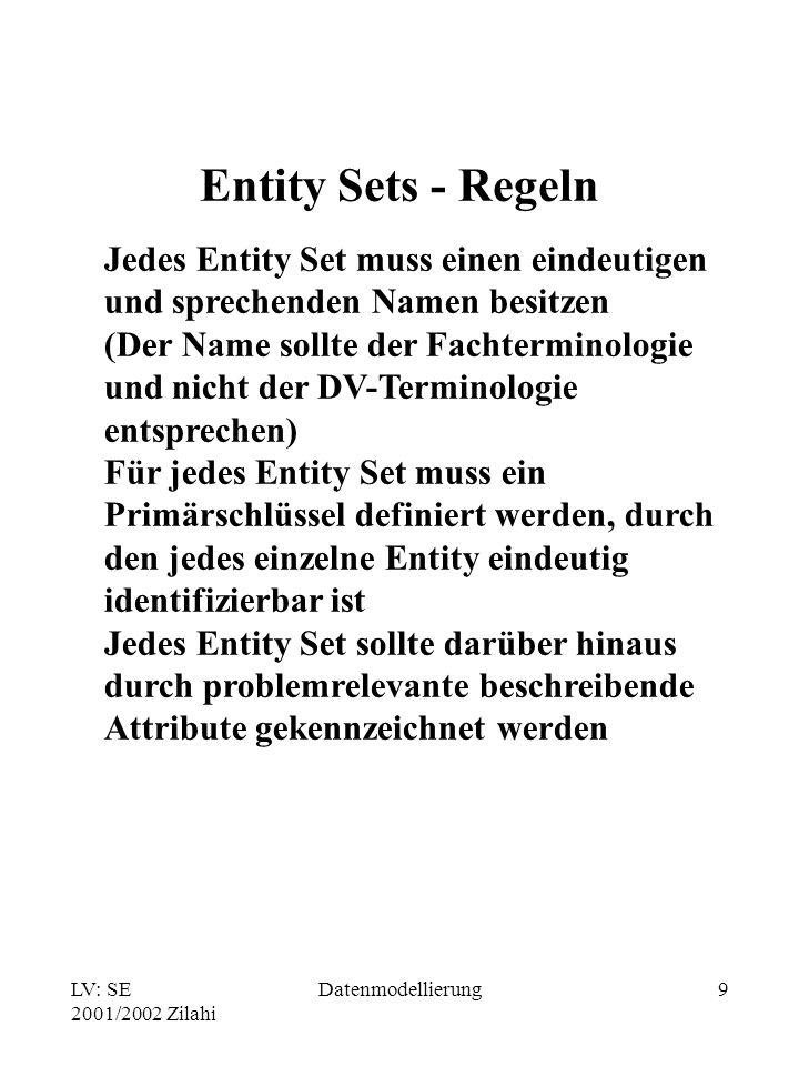 Entity Sets - Regeln