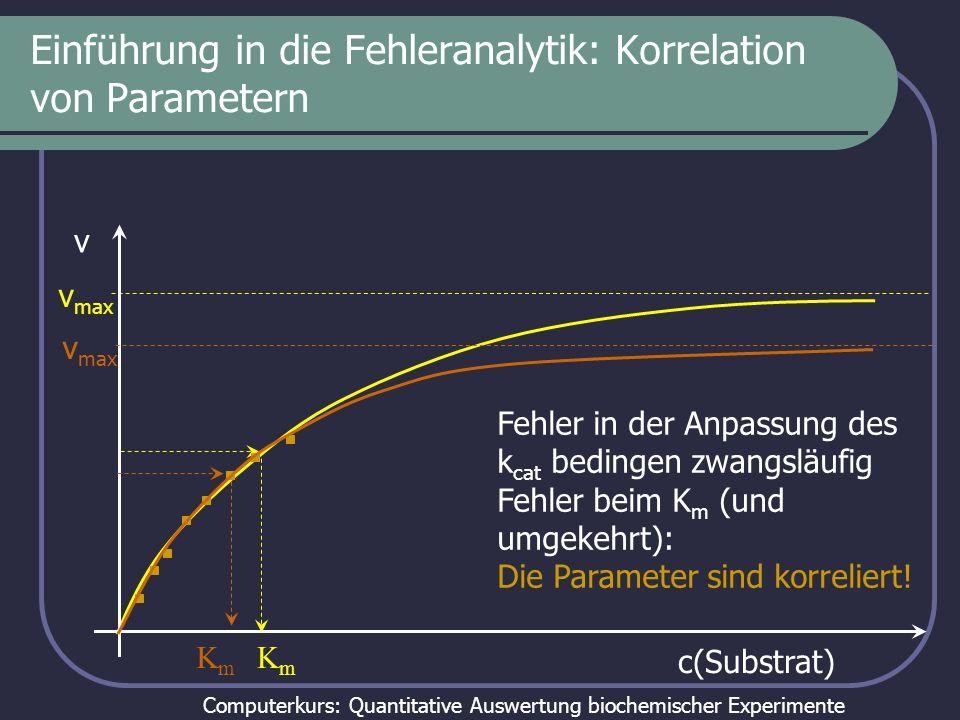 Einführung in die Fehleranalytik: Korrelation von Parametern