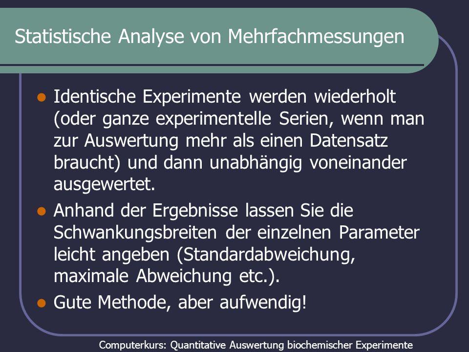 Statistische Analyse von Mehrfachmessungen