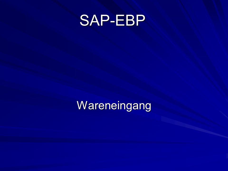 SAP-EBP Wareneingang