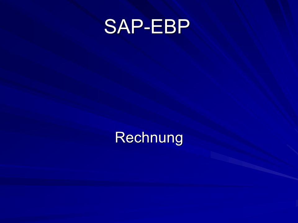 SAP-EBP Rechnung