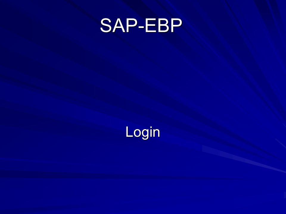 SAP-EBP Login