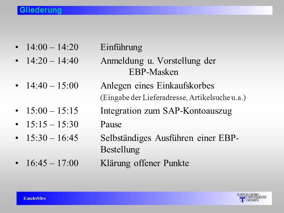 14:20 – 14:40 Anmeldung u. Vorstellung der EBP-Masken