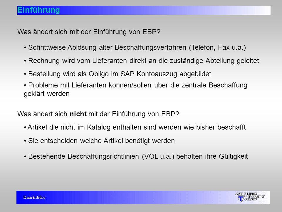 Einführung Was ändert sich mit der Einführung von EBP