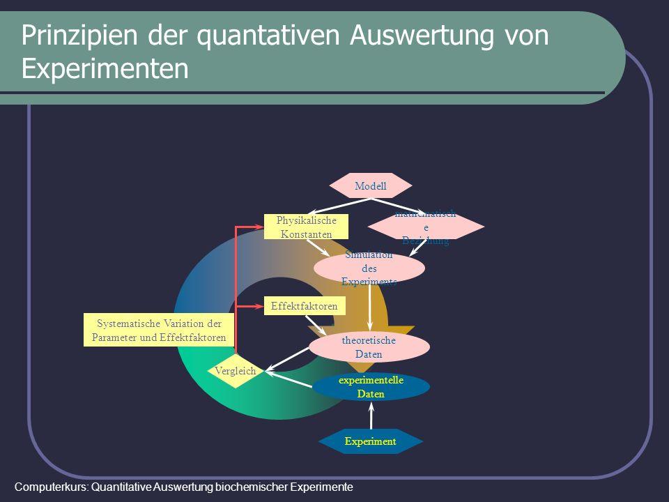 Prinzipien der quantativen Auswertung von Experimenten