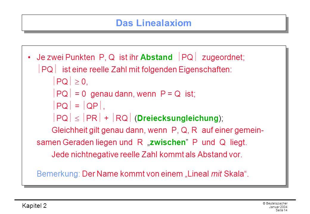 Das Linealaxiom