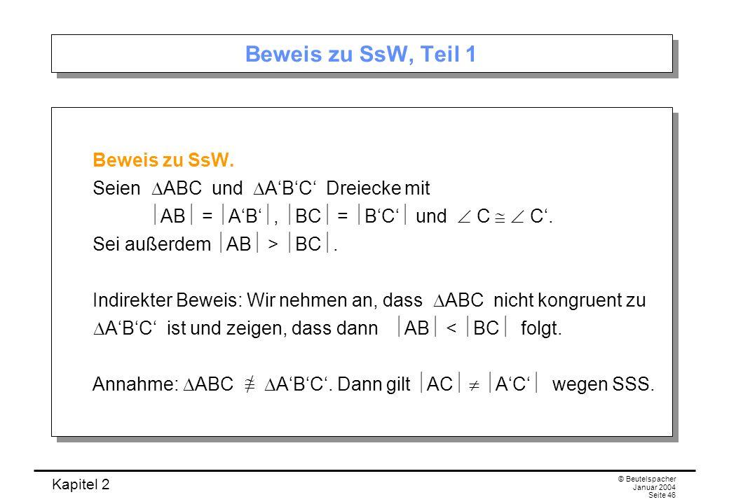Beweis zu SsW, Teil 1 Beweis zu SsW.