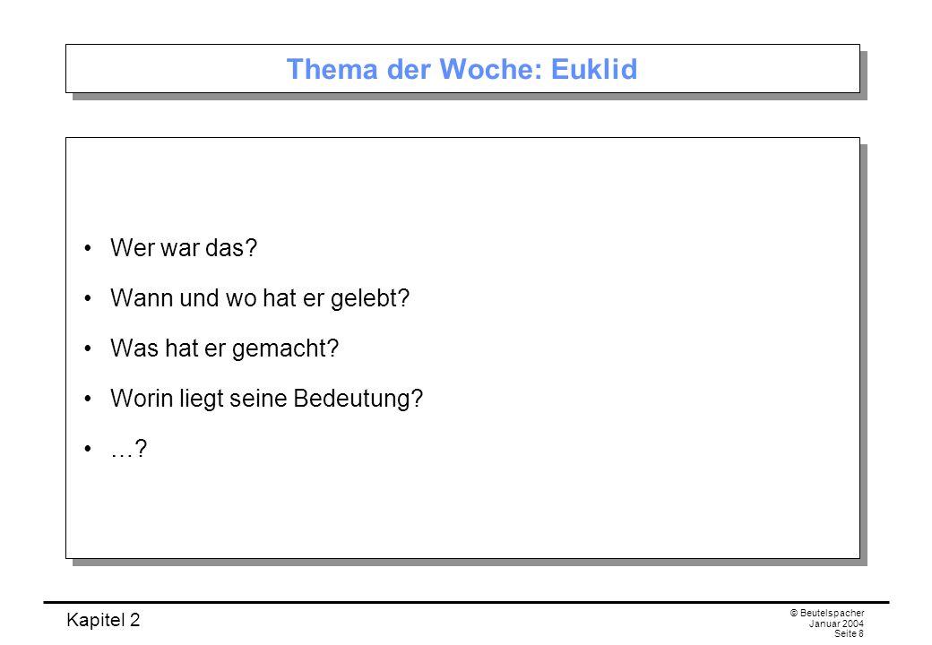 Thema der Woche: Euklid