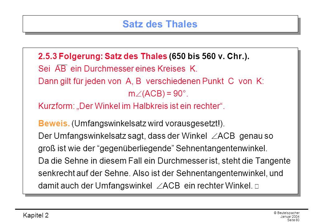 Satz des Thales