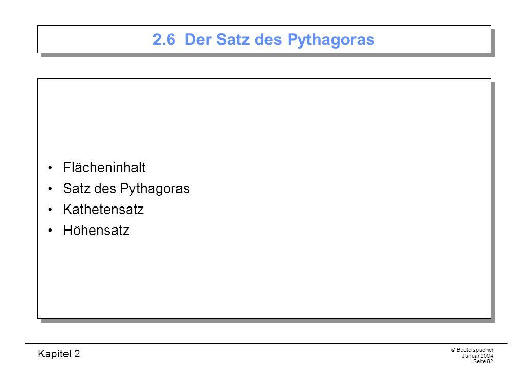 2.6 Der Satz des Pythagoras