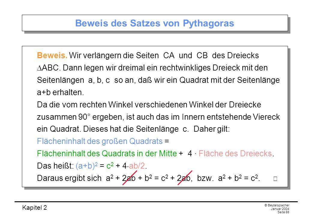 Beweis des Satzes von Pythagoras