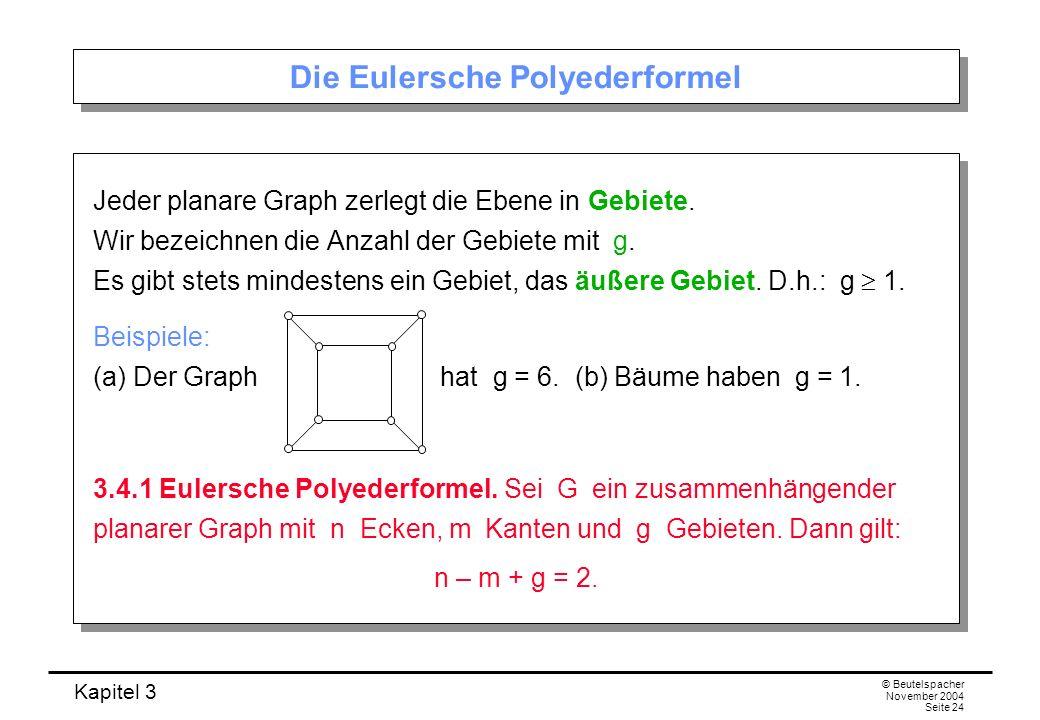 Die Eulersche Polyederformel