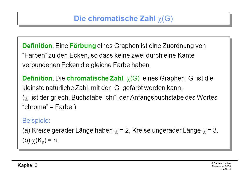 Die chromatische Zahl c(G)