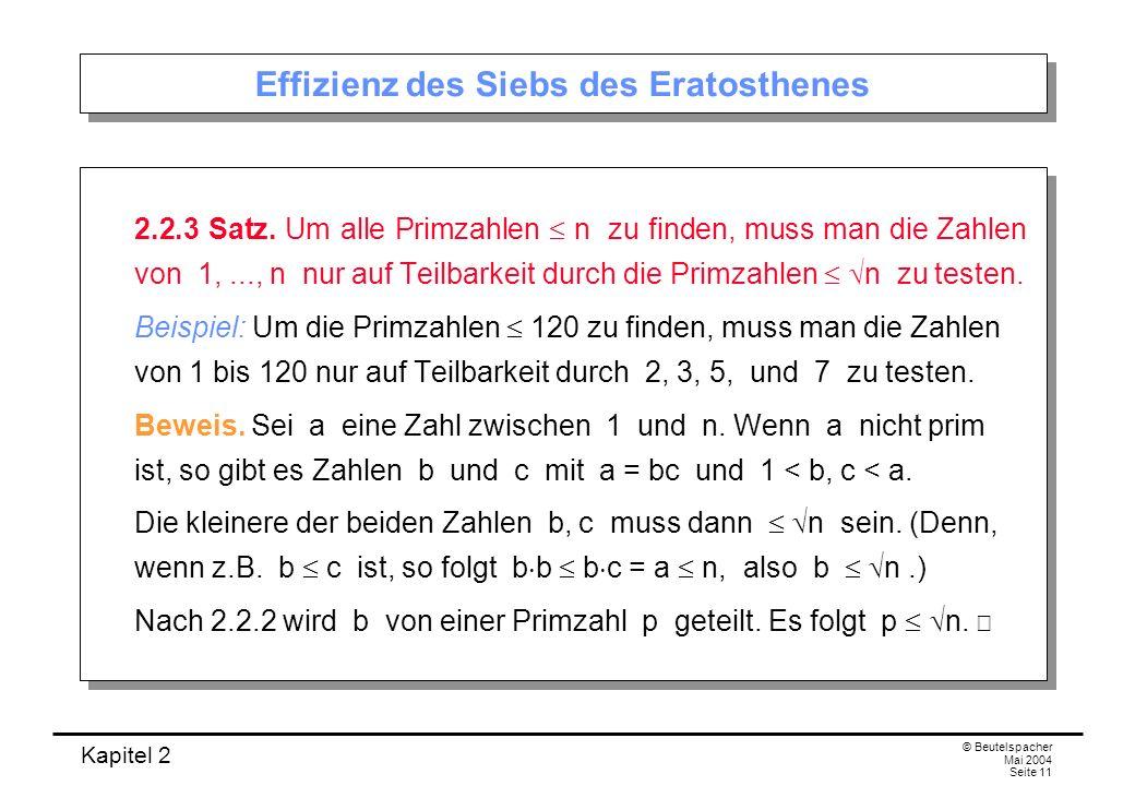 Effizienz des Siebs des Eratosthenes