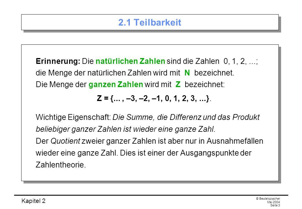 2.1 Teilbarkeit