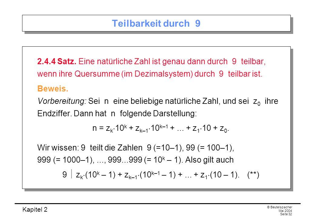 9  zk(10k – 1) + zk–1(10k–1 – 1) + ... + z1(10 – 1). (**)
