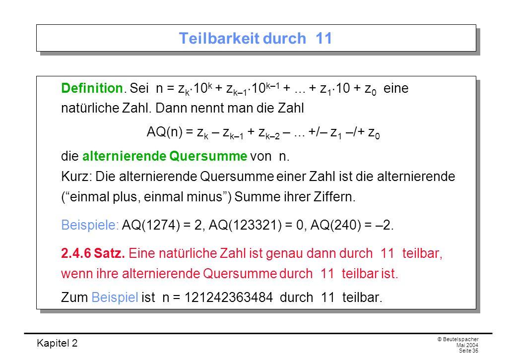 AQ(n) = zk – zk–1 + zk–2 – ... +/– z1 –/+ z0