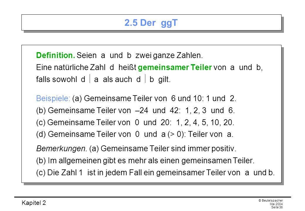 2.5 Der ggT