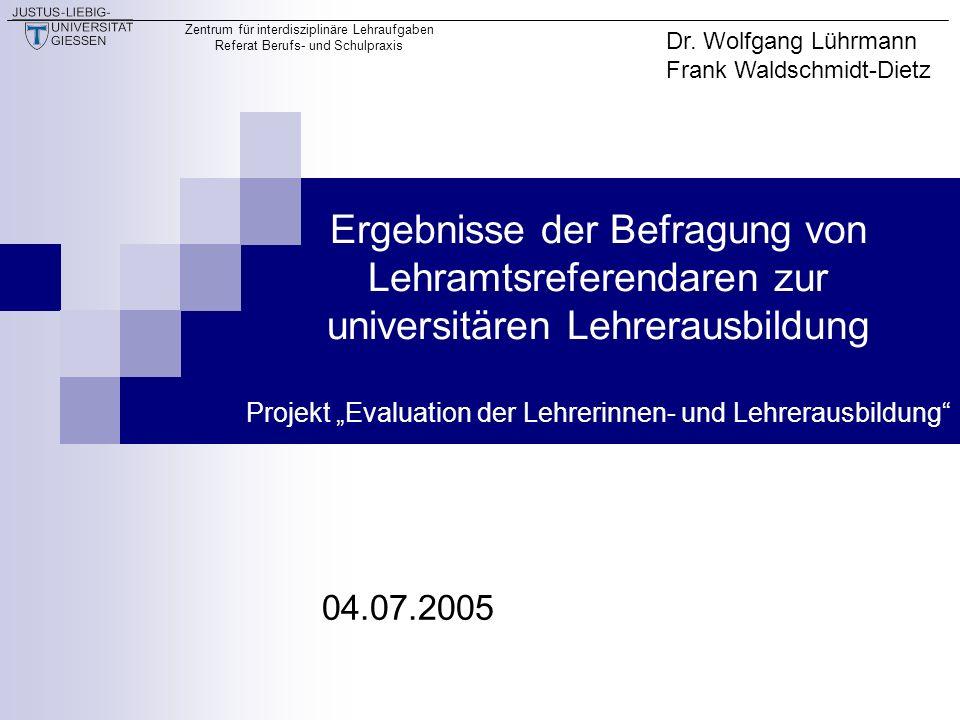 Dr. Wolfgang Lührmann Frank Waldschmidt-Dietz.