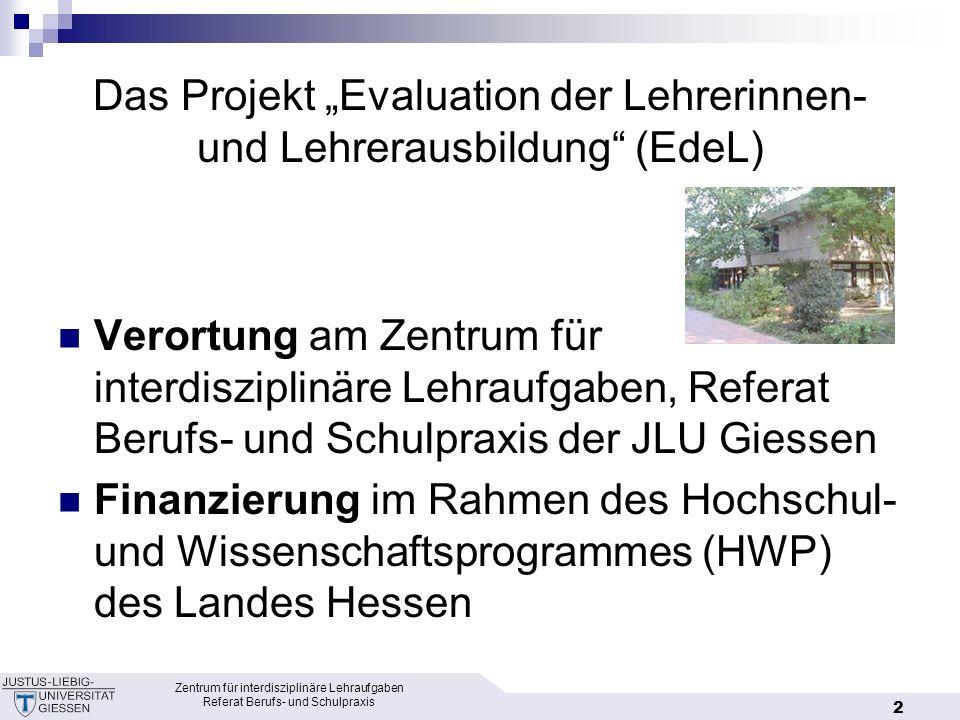 """Das Projekt """"Evaluation der Lehrerinnen- und Lehrerausbildung (EdeL)"""
