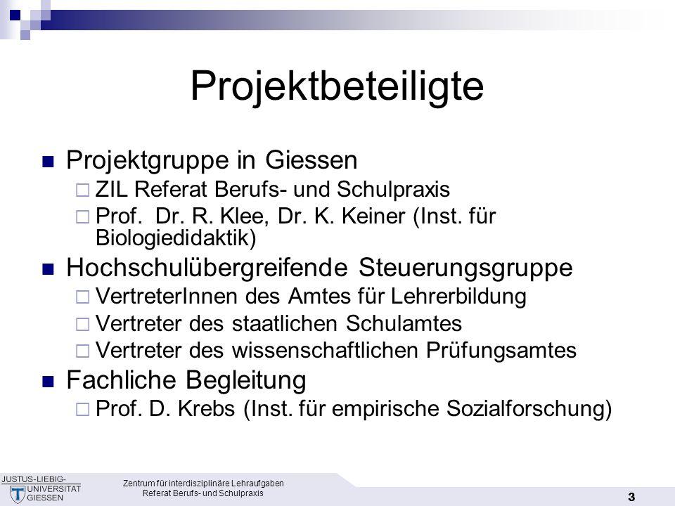 Projektbeteiligte Projektgruppe in Giessen
