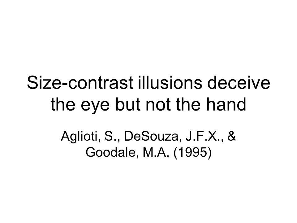 Size-contrast illusions deceive the eye but not the hand