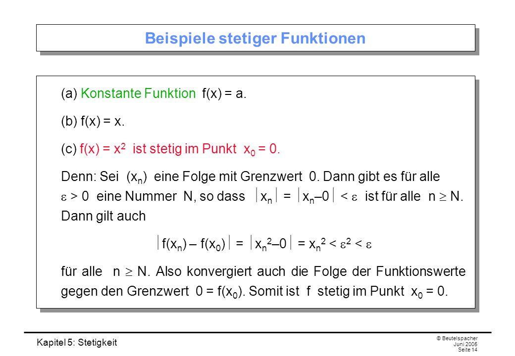 Beispiele stetiger Funktionen