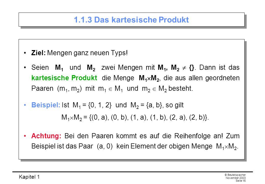 1.1.3 Das kartesische Produkt