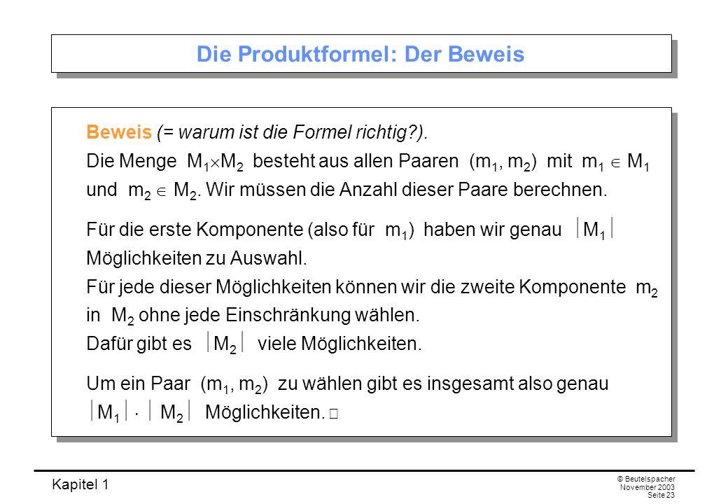 Die Produktformel: Der Beweis