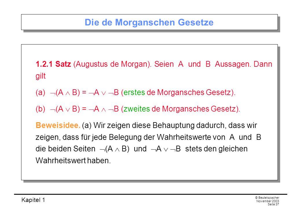 Die de Morganschen Gesetze
